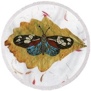 Butterfly #2 Round Beach Towel by Ralph Root