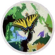 Butterfly #3 Round Beach Towel