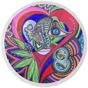 Butterfly And I Round Beach Towel