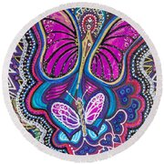 Butterfly Angels Round Beach Towel