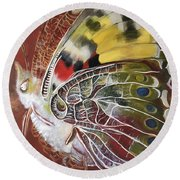 Butterfly Artbox Project 1 Basel Round Beach Towel