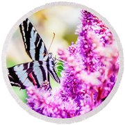 Butterfly Beautiful  Round Beach Towel