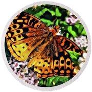 Butterfly Beauty Round Beach Towel