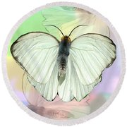 Butterfly, Butterfly Round Beach Towel