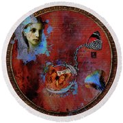 Butterfly Circle Of Love Round Beach Towel