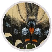 Butterfly Colors Round Beach Towel