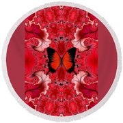 Butterfly Dream Phone Case Round Beach Towel