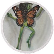 Butterfly Fairy Round Beach Towel