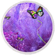 Butterfly Fantasy Round Beach Towel