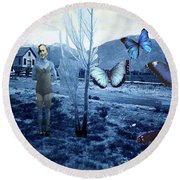 Butterfly Firing Squad Round Beach Towel