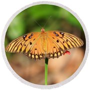 Butterfly Flower Round Beach Towel