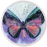 Butterfly Garden Fantasy Round Beach Towel