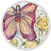 Butterfly Grace Fairy Round Beach Towel