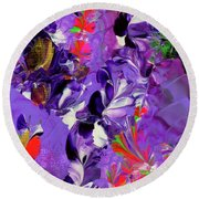 Butterfly Island Treasures Round Beach Towel