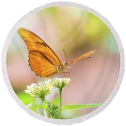 Butterfly - Julie Heliconian Round Beach Towel