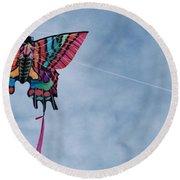 Butterfly Kite 5 Round Beach Towel