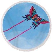 Butterfly Kite Round Beach Towel