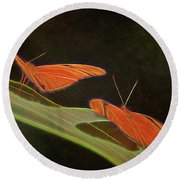 Butterfly Love 1a Round Beach Towel