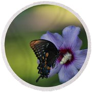 Butterfly Lunch Round Beach Towel