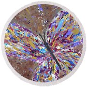 Butterfly Magic Round Beach Towel