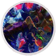 Butterfly Mountain Round Beach Towel