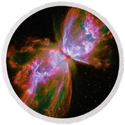 Butterfly Nebula Round Beach Towel by Paul W Faust - Impressions of Light
