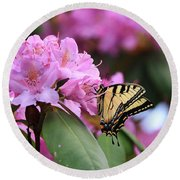 Round Beach Towel featuring the photograph Butterfly Paradise by Rick Morgan