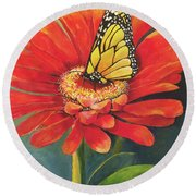 Butterfly Rest Round Beach Towel