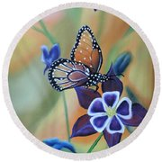 Butterfly Series#4 Round Beach Towel