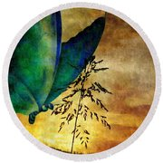 Butterfly Sunrise Round Beach Towel