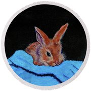 Butterscotch Bunny Round Beach Towel