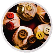 Button Sack Lollypop Monsters Round Beach Towel
