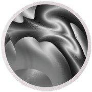 Round Beach Towel featuring the digital art Bw Art 1 by Visual Artist Frank Bonilla