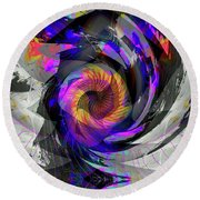 Bw Rose Round Beach Towel