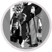 Bw Tiger Woods Tee II Round Beach Towel