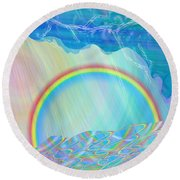 By Day And By Rain Round Beach Towel