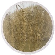 By Quiet Waters Round Beach Towel by The Art Of Marilyn Ridoutt-Greene