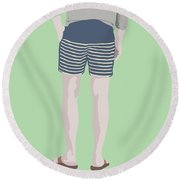 By The Bay Round Beach Towel by Nicole Wilson