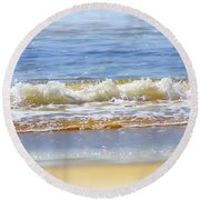 By The Coral Sea Round Beach Towel by Holly Kempe