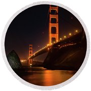 By The Golden Gate Round Beach Towel