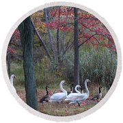 By The Lake Round Beach Towel by Dora Sofia Caputo Photographic Art and Design