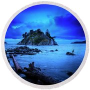 Round Beach Towel featuring the photograph By The Light Of The Moon by John Poon