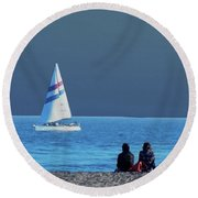 By The Sea Round Beach Towel by B Wayne Mullins