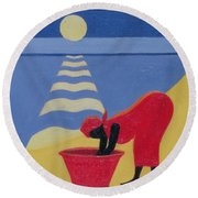 By The Sea Shore Round Beach Towel