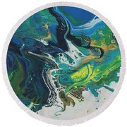 By The Seaside Round Beach Towel