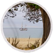 By The Shore Round Beach Towel