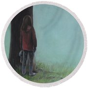 By The Tree Round Beach Towel