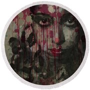 Bye Bye Blackbird Round Beach Towel by Paul Lovering
