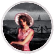 Round Beach Towel featuring the photograph Bygone  ... by Chuck Caramella