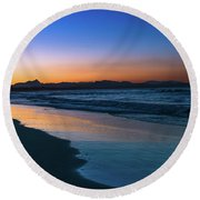 Byron Bay After The Sun Sets Round Beach Towel